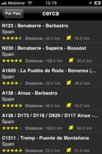 Android App Motorradstrecken Screenshot 3