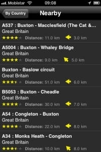 iPhone App Motorradstrecken screenshot5